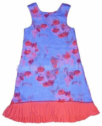 Jeanskleid in blau/rot