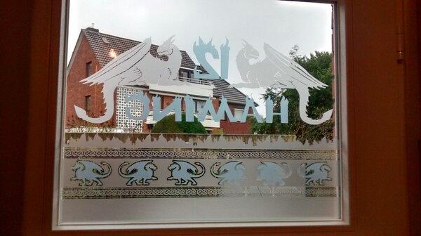 Glasdekorfolie Haustür