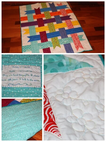 Nordic Ribbons Baby Quilt