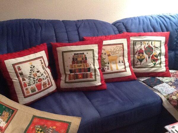 meine neuen Weihnachtskissen