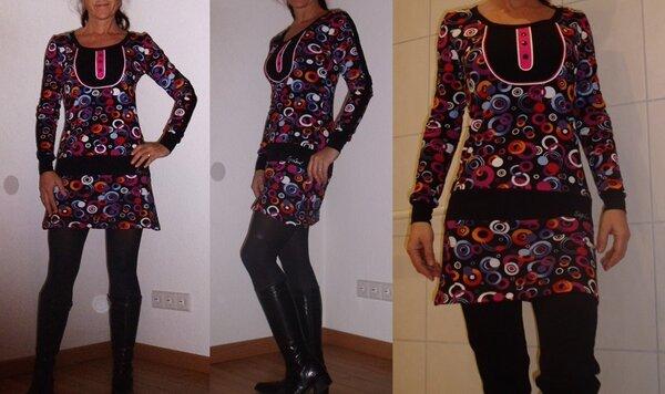 Shirt Kleid Joana Kreisen schwarz