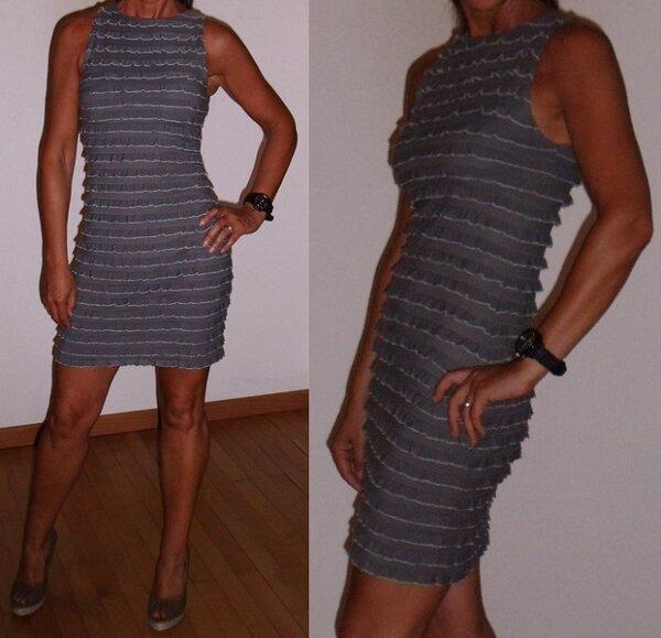 Kleid Rüschchen  grau