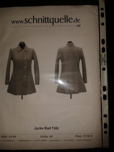 """Schnittquelle """"Jacke Bad Tölz"""" Gr. 46 neu 13,00 €"""