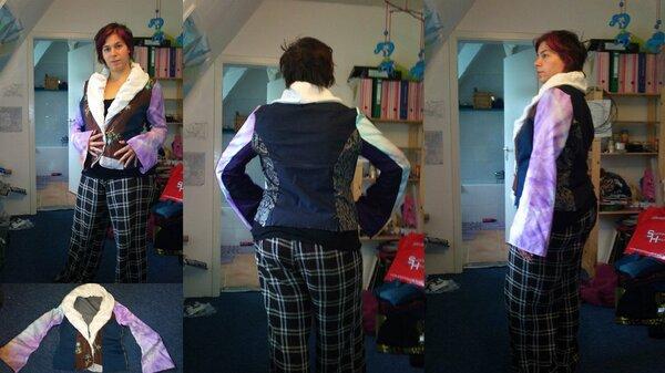 ja, die Jacke war für die Tonne, eigentlich ein Probemodell nach einem Schnitt aus der Burda, doch ich habe mich gänzlich dagegen entschieden...