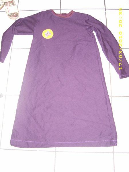 Nachthemd in Bordeaux Gr. 152