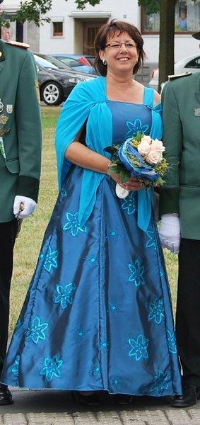 Sonntag Mittag zum Festzug - Kleid mit Stola