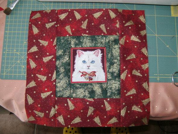 Katzenblock der 4. ...leider genau so schief wie er aussieht...also noch mal neu :-(