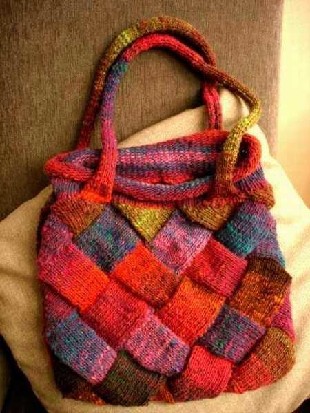 meine erste Stricktasche ...