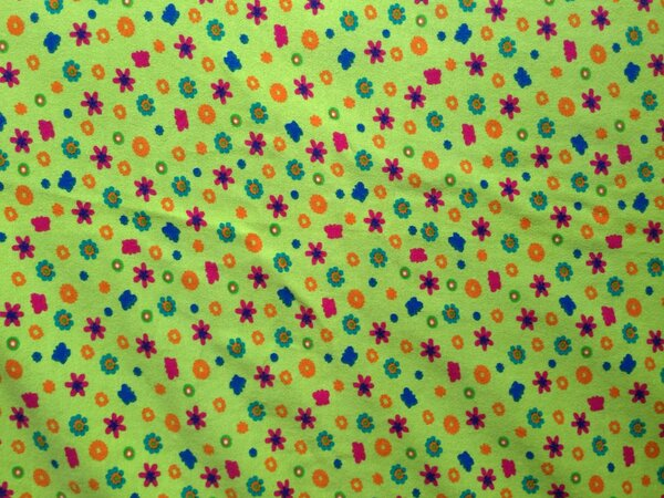 Jersey Blumen  0,95 x 0,35 und 0,55 x 0,90 m zusammenhängend