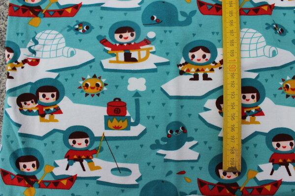 K15: Lillestoff Jersey Inuit Eigentümer: littlelursa 110 x 27 => 0,30 m² Tauschfaktor 150% Tauschwert 0,45 m²