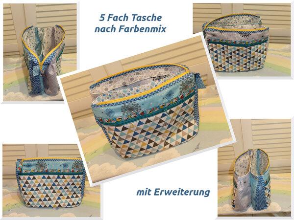 Fünf Fach Tasche (Farbenmix) die 2.