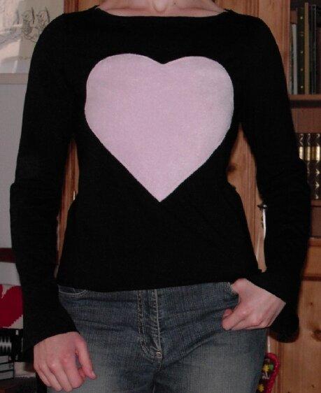 Shirt mit Herz