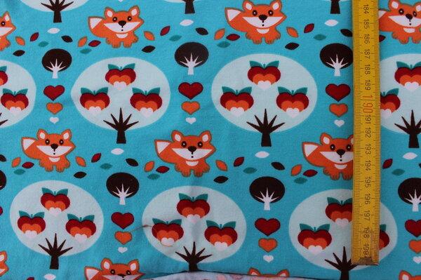 K20: Lillestoff Jersey Fuchs Eigentümer: littlelursa 133 x 28 => 0,37 m² Tauschfaktor 125% Tauschwert 0,47 m²