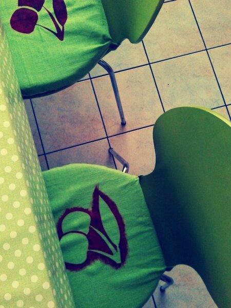 Stuhlbezug, Mit lecker Kirschen ;)