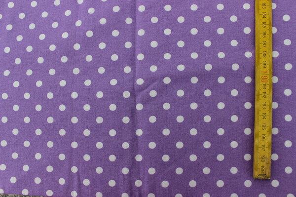 H9: BW-Webware lila mit weißen Punkten Eigentümer: Stefanie85 150 x 50 => 0,75 m²