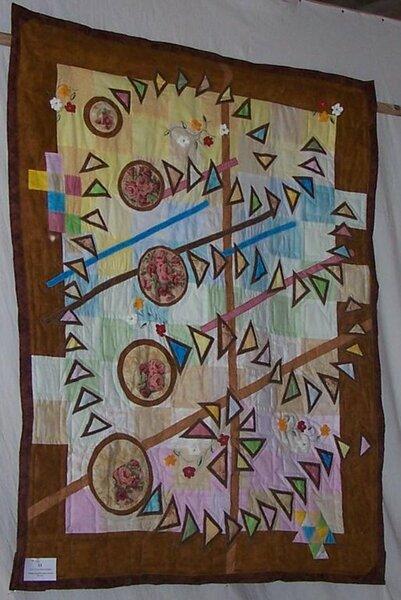 """""""Tanz der Zuckerfee"""" Quilt aus einer Ausschreibung Grundtuch: Quadrate Muster: appliziert"""