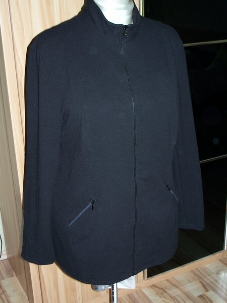 Jacke nach neue mode-Schnitt M23283, Gr.48, aus Romanitjersey