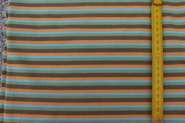 G24: Rippstrick Streifen bunt (auch als Bündchen verwendbar) Eigentümer: Maline 116 x 66 => 0,77 m²