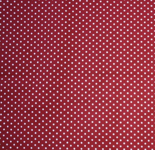 72. BW Webware rot mit kleinen weißen Punkten  1,00 x 1,60 m