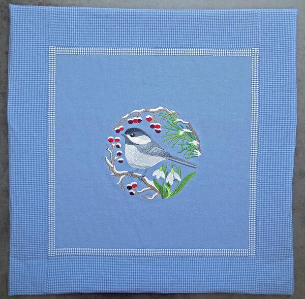 Kissenbezug 60 x 60 cm mit Stickerei