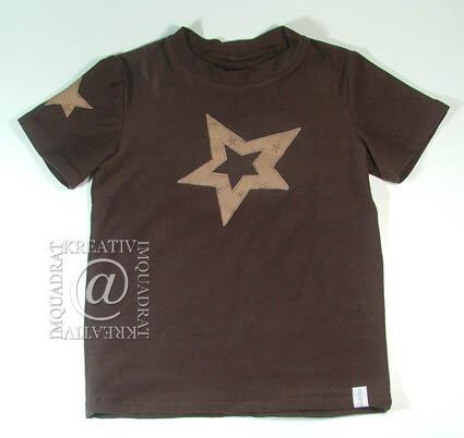 T Shirt Stern braun