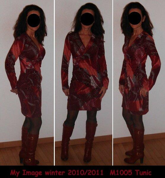Kleid My Image M1005 Weinrot