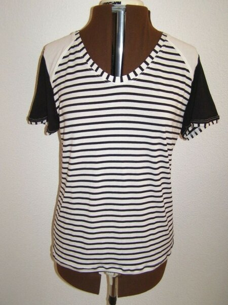 Antonella Shirt Schwarz-weiss