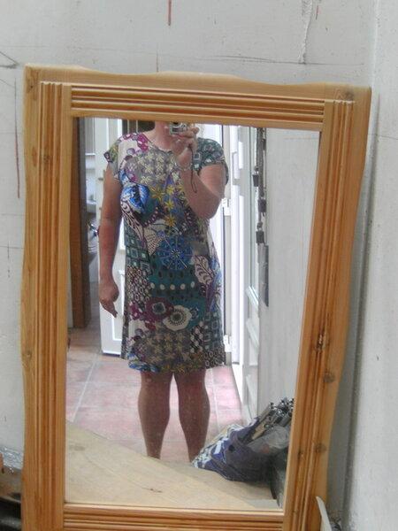 Kimono-Tee Kleid Gr. 48