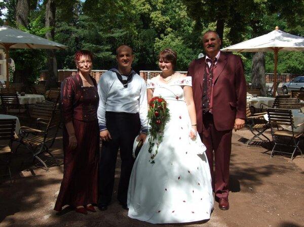 Brautpaar mit Brauteltern