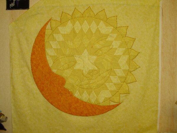Tagesdecke Sonne und Mond