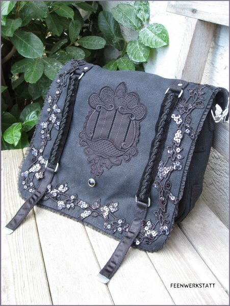 Black Romantic Diva Bag
