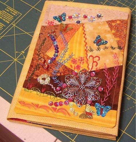 Jäckchen für Notizbuch mit Crazy-Patch