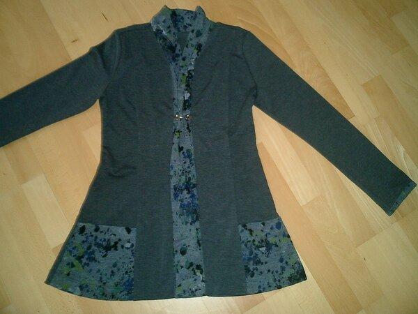 halboffene Jacke aus Romanitjersey