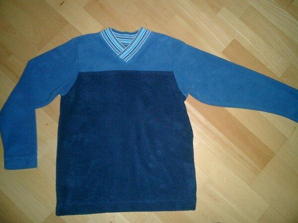 Pulli aus Baumwollfleece, jeansblau-blau