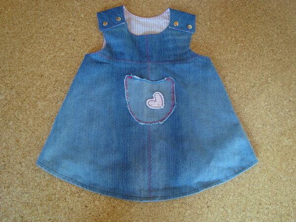 Jeans-Trägerkleid Gr. 80