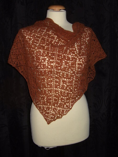 """Rusty Crown Of Phersephone"" Lace Tuch 2"