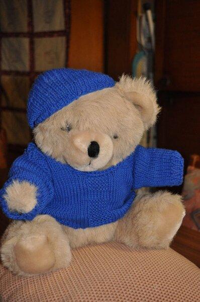 Teddyoutfit in blau