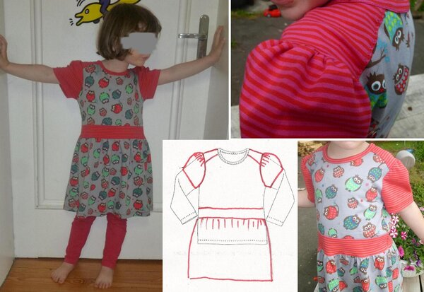 Jerseykleid aus Stoffcoupons