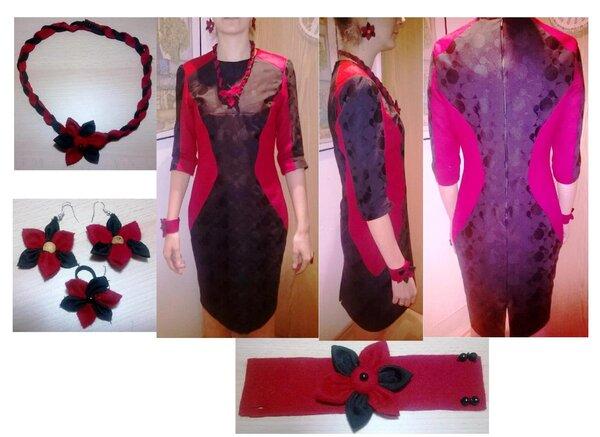 Mein Kleid für die Feiertage mit Schmuck