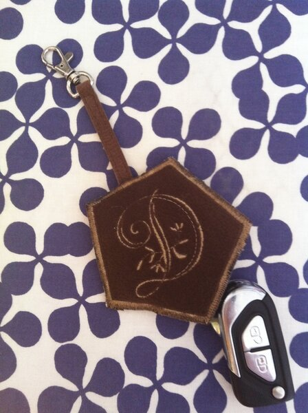 Schlüssel-Anhänger Täschchen aus Leder-Imitat