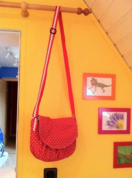 Rote Pünktchen Tasche 1