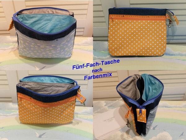 Fünf Fach Tasche (Farbenmix)