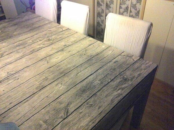 Tischhusse in Holzoptik