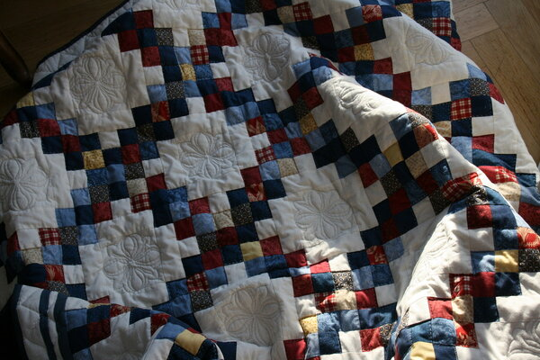 Double Irish Chain Details Quilting