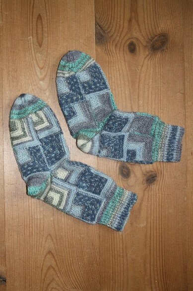 Patchworksocken