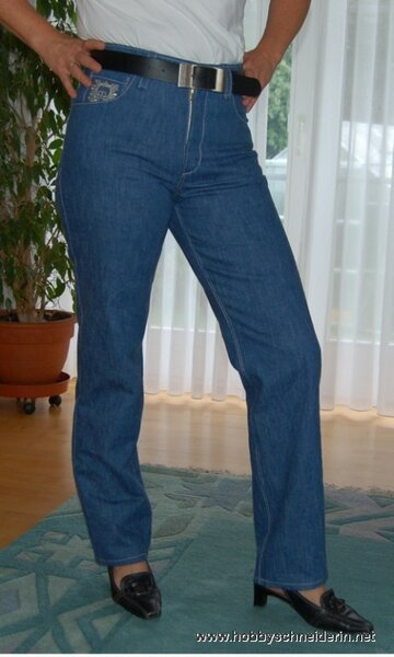 Golden Pattern Jeans