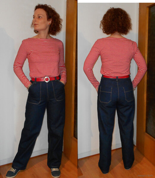 Blue Jeans mit Ringelshirt