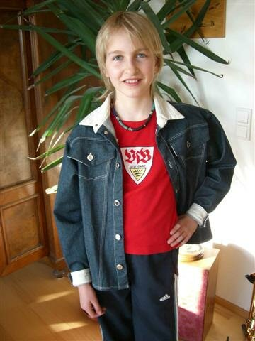 Jeansjacke aus dem Kindernähkurs