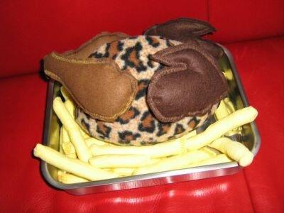 Brathuhn a`la Leopard mit Pommes