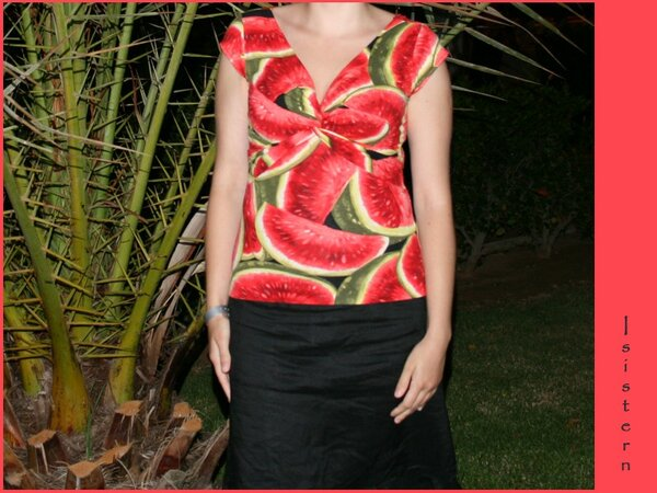Knotenshirt Melone